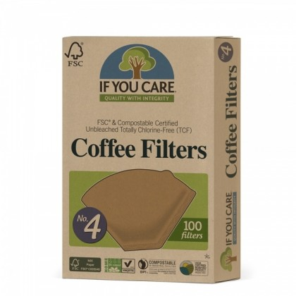 Kaffefilter nr 4 - 100 stk - If you care