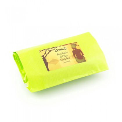 Akamuti Shea Butter and Olive Soap Bar, såpebar - 100g