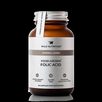 Wild Nutrition - Fol Syre - 30 kapsler