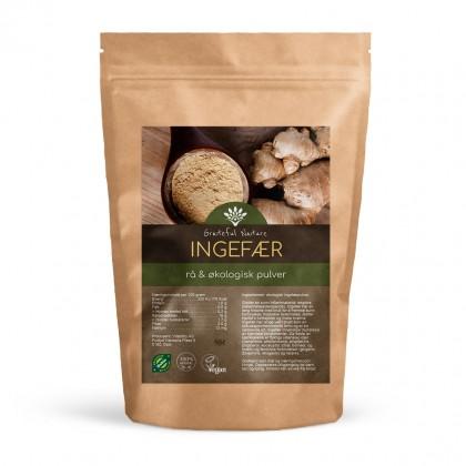 Ingefærpulver (ginger) - Rå - Økologisk - 250 g