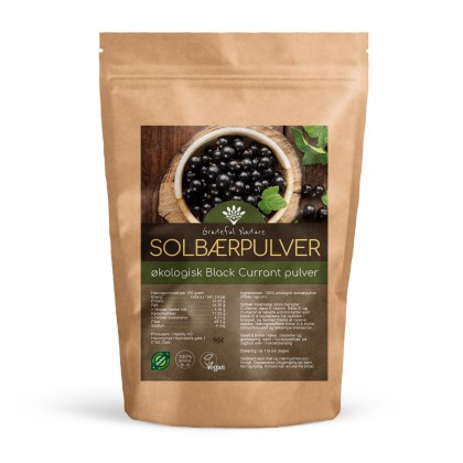 Solbærpulver - Blackcurrant powder - Økologisk - 250 g