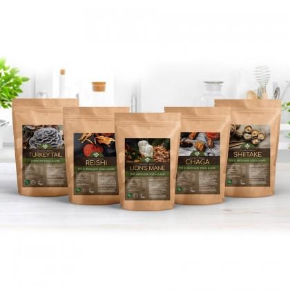 Sopp-pakken - Forskjellige sopper - kosttilskudd