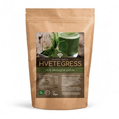 Hvetegresspulver - Wheatgrass Powder - Rå - Økologisk - 250 g