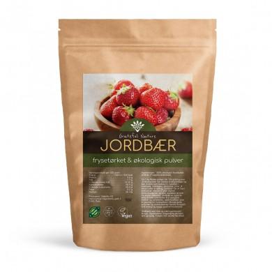 Jordbærpulver - Frysetørket - Økologisk - 250g